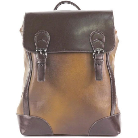 'Okazaka' City Backpack (Brown) by Tokyo Bags