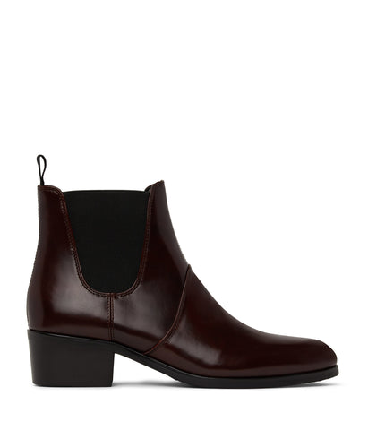 Oslo womens vegan chelsea boots - mulberry