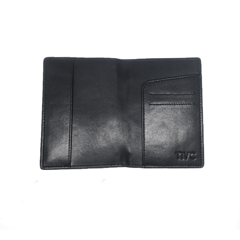 Time IV Change - Black Vegan Leather Passport Wallet