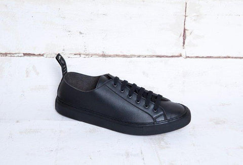 'Samo' vegan-leather sneaker by Good Guys don't Wear Leather - black - Vegan Style