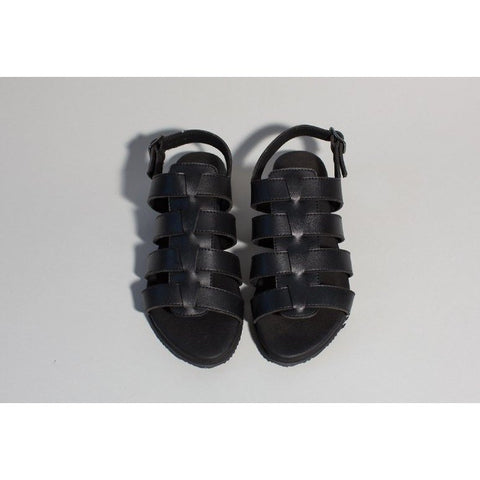 'Spart' Sandal (Black) by Good Guys