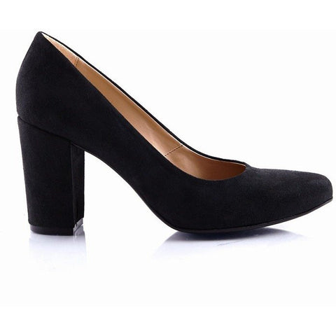 Bourgeois Boheme - faux-suede heel for women 'Kate' (black)