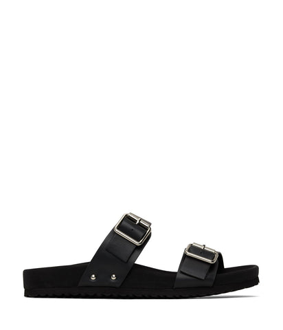 'Ibaka' women's vegan footbed sandals by Matt and Nat - black
