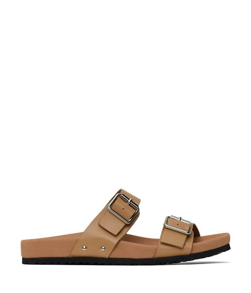 'Ibaka' women's vegan footbed sandals by Matt and Nat - soy