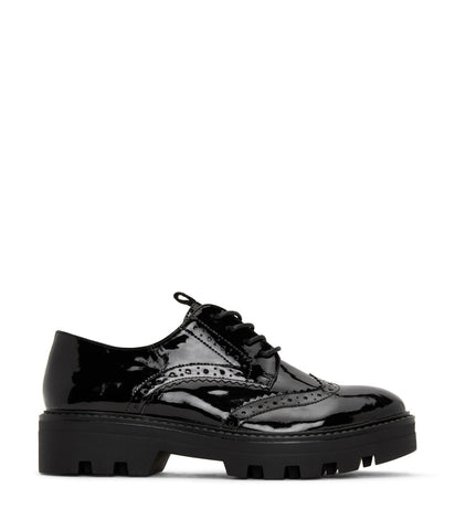 'Itza' women's vegan brogues by Matt and Nat - black