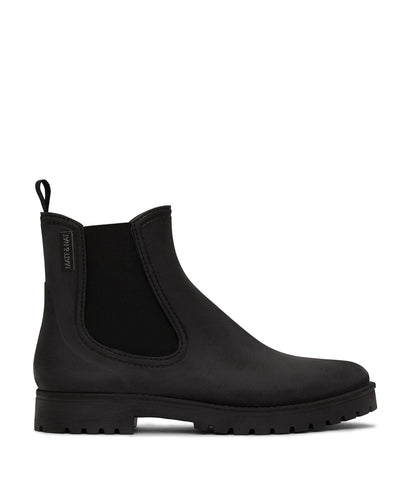 'Laney' Vegan Chelsea Waterproof Rain Boots by Matt and Nat - Black