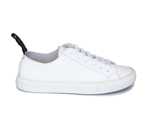 'Samo' Vegan-Leather Sneaker by Good Guys Don't Wear Leather - White