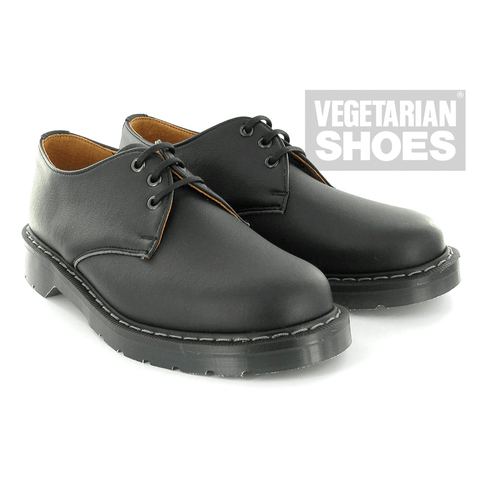 Vegetarian Shoes - Airseal 3 Eye Shoe (Black) - Vegan Style