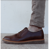 FAIR shoes - Men's vegan oxford - chestnut