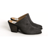'Dolly' Vegan mules (Charcoal) by Good Guys
