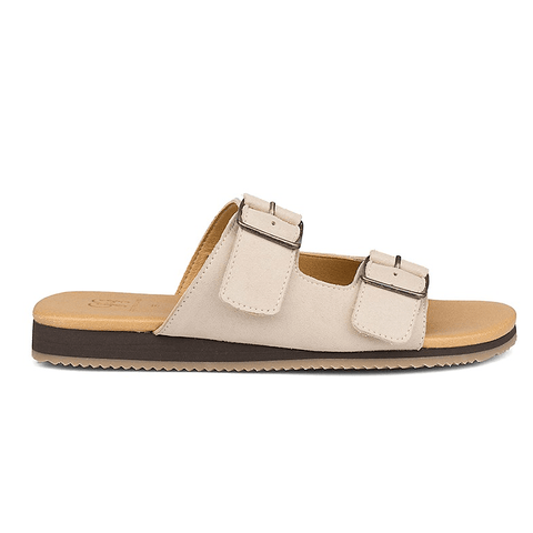 'Cary' vegan suede unisex sandals by Good Guys Don't Wear Leather - beige