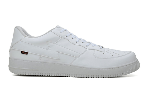 'Paramount' matte white vegan low-top sneaker by King55
