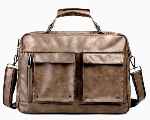 'Himenji' traveller briefcase by Tokyo Bags - brown - Vegan Style