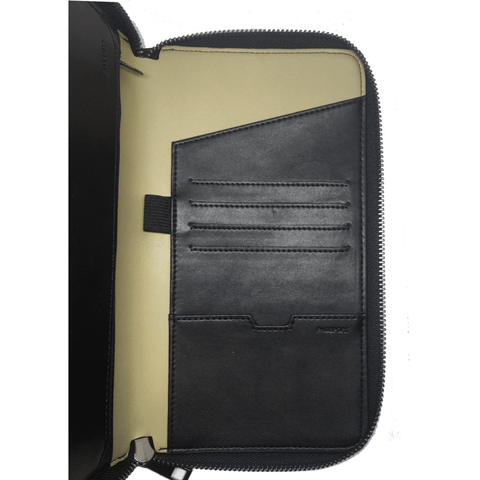 Time IV Change - Black Vegan Leather Travel Wallet