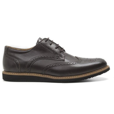 'William' Wingtip Shoes (Espresso) by Ahimsa