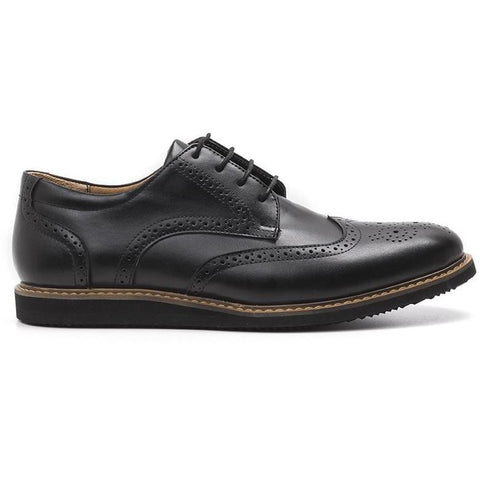 'William' Wingtip Shoes (Black) by Ahimsa