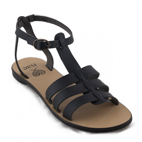 'Doria' women's vegan sandals by NAE - black