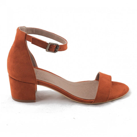 'Irene' vegan low-heeled by NAE - orange - Vegan Style