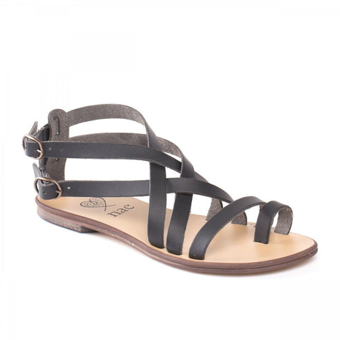 'Itaca' women's vegan sandals by NAE - brown