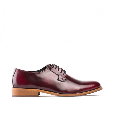 'Justin' men's vegan Oxford by NAE - bordeaux