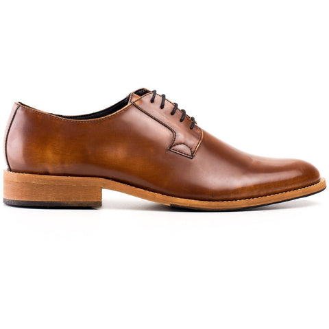 'Justin' men's vegan Oxford by NAE - brown