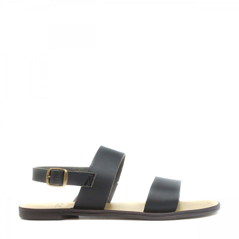 'Oxia' Women's vegan sandals by NAE - black