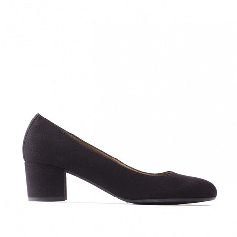 'Lina' Women's vegan low-heel court shoe by NAE - Black