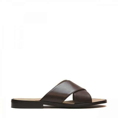 'Marco' men's vegan sandal by NAE - brown - Vegan Style