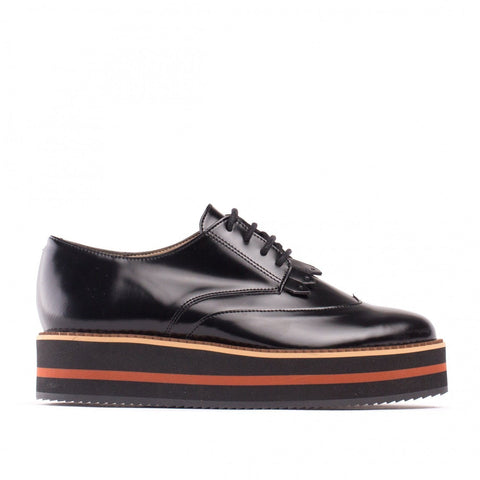 'Sandra' vegan oxford with platform sole by NAE - black
