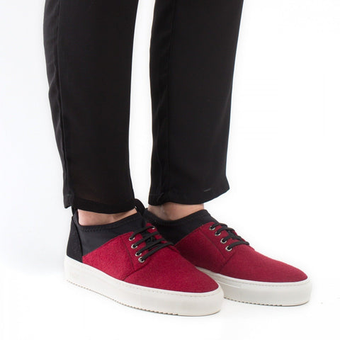 NAE - Vegan 'Re-pet' Sneakers - black/red