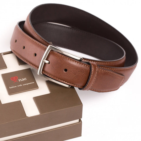 'Tossa' vegan belt for men and women by NAE - brown