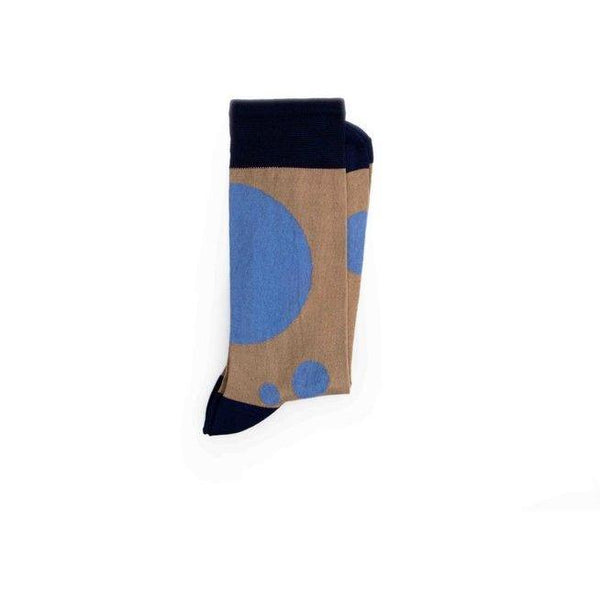 Abstract dots - ethical beige and blue socks by Conscience - Vegan Style