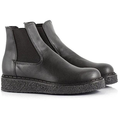 'Alanis' Chelsea vegan boot by Bourgeos Boheme - Black