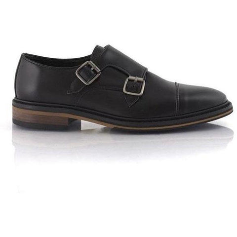 'Benedict' Double Monk Shoes (Black) by Bourgeois Boheme