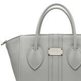 1.4 midi vegan handbag by Alexandra K - foggy grey