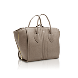 1.5 maxi tote vegan handbag by Alexandra K - taupe apple leather