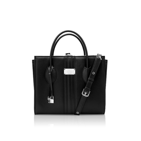 1.6 maxi vegan handbag by Alexandra K - black apple-leather