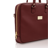 Vegan briefcase by Alexandra K - marrone