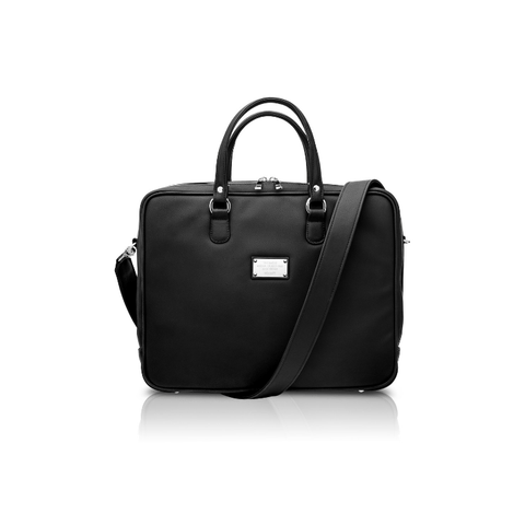 Vegan briefcase by Alexandra K - black