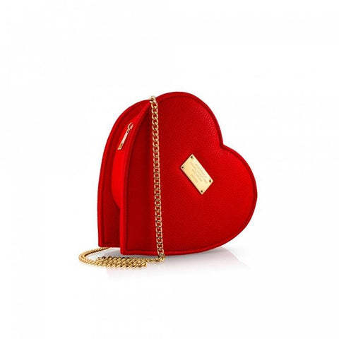 Alexandra K - Vegan Heart Shaped Crossbody Bag (Raspberry)