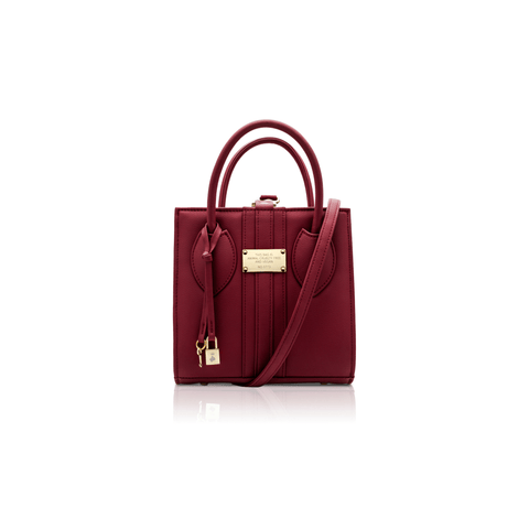 Mini vegan handbag 1.6 by Alexandra K - burgundy - Vegan Style