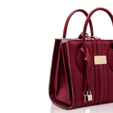 Mini vegan handbag 1.6 by Alexandra K - burgundy