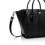 1.4 midi vegan handbag by Alexandra K - black apple leather - Vegan Style