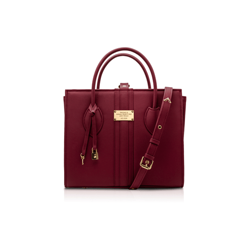 Maxi vegan handbag 1.6 by Alexandra K - burgundy