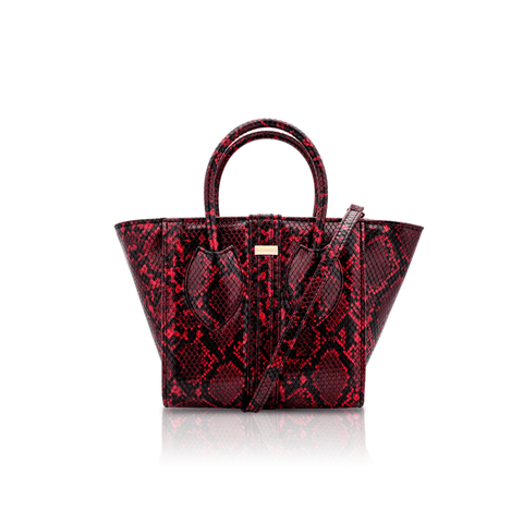 Vegan 1.3 handbag by Alexandra K - red and black
