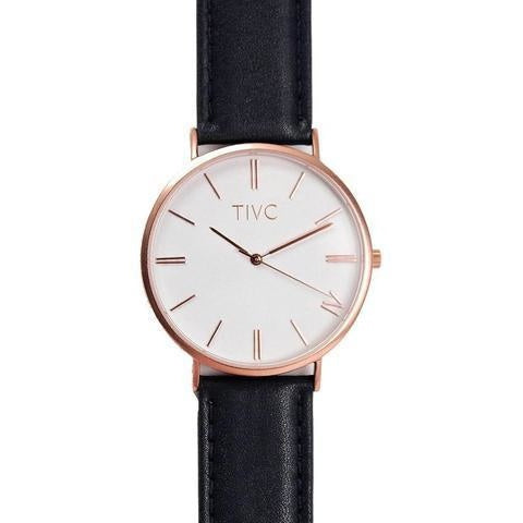 Time IV Change Watch - Rose Gold Face + Black Kaizen Band