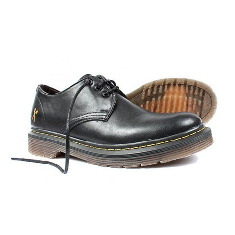"""Derby UK"" matte black vegan lace-up shoe by King55"
