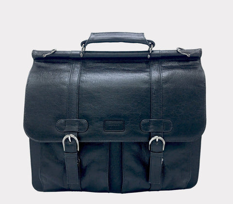 'Moby' vegan briefcase by GUNAS - black