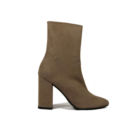'Lisa' vegan-leather Chelsea bootie by Zette Shoes - taupe - Vegan Style