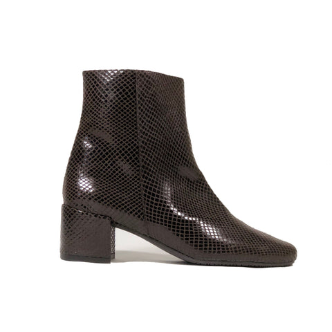 'Jacqui' vegan-leather Chelsea bootie by Zette Shoes - espresso